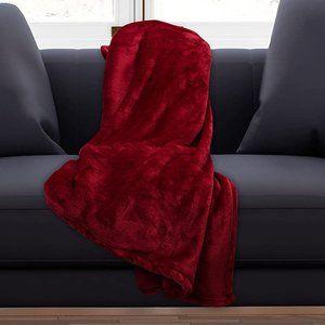 "ELLE Decor RED Throw / Blanket 60"" x 90"" Silky"